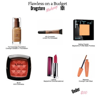 Drugstore Makeup infographic