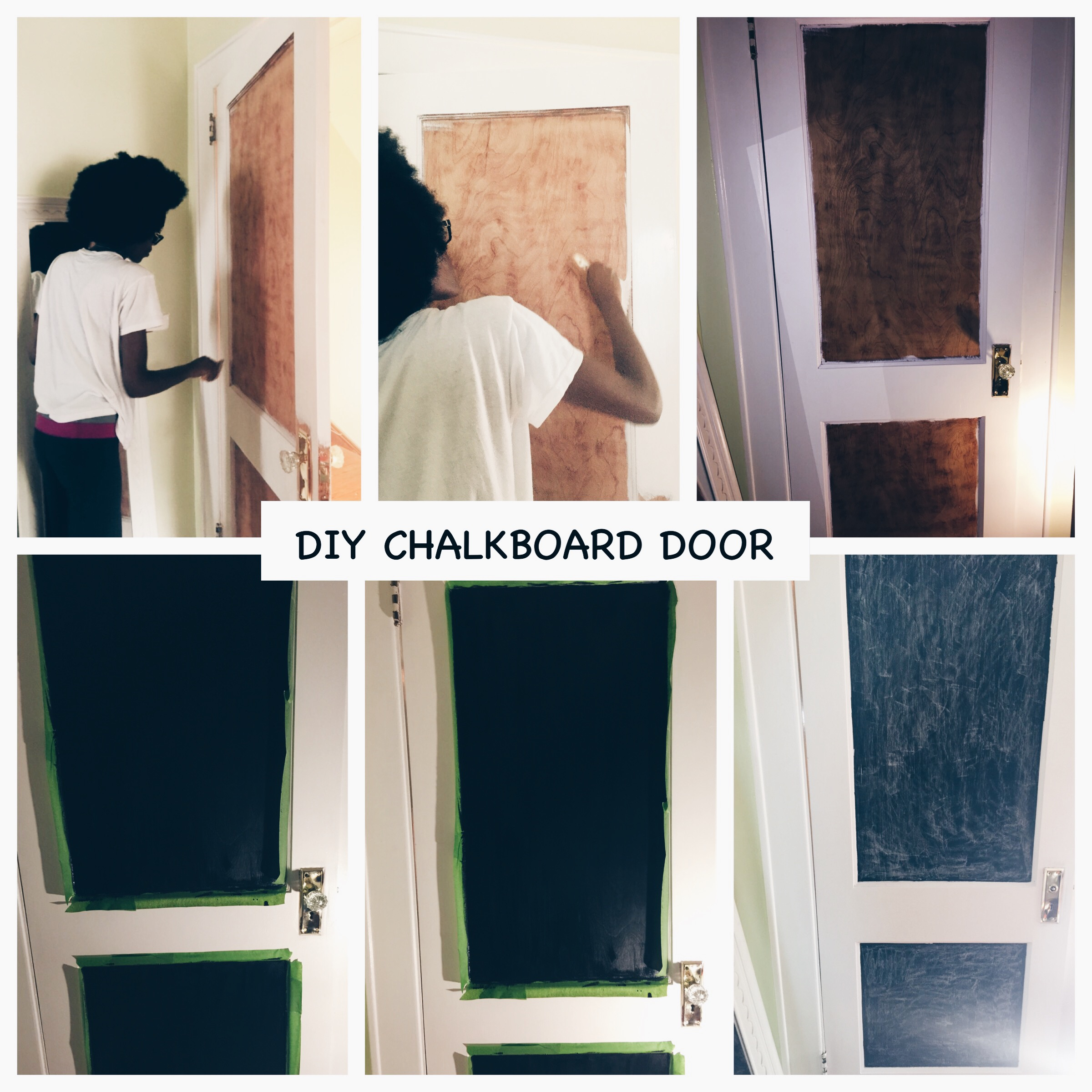 DIY Chalkboard Door. & DIY (Home Edition): Chalkboard Door | Beauty n\u0027 Curlz